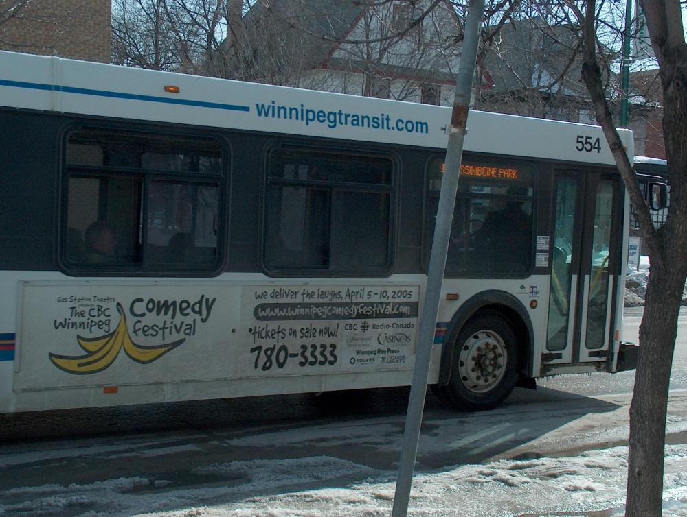 Фотографии Виннипега. Городской автобус.