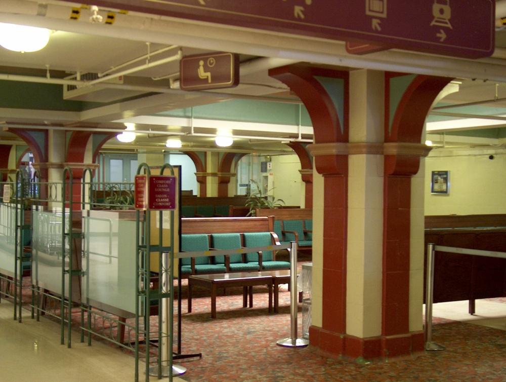 Фотографии Виннипега. Зал ожидания, ж/д вокзал.