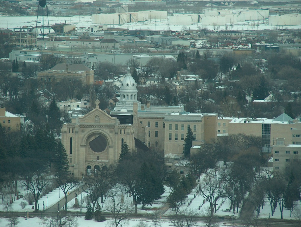 Фотографии Виннипега. Вид на северо-восток-восток с 31-го этажа Fort Garry Place.