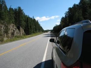 Автомобильные пробки по дороге в Thunder Bay