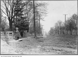 Ранний Торонто. Грязно. Фото из архива Торонто. Датировано 1910-ым годом.