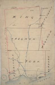 Карта раннего Торонто