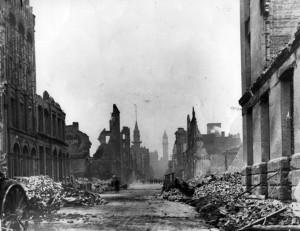 Даунтаун Торонто, последствия пожара 1904-го года.